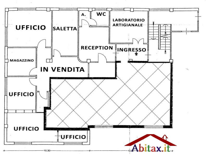 Ufficio / Studio in vendita a Arezzo, 9 locali, prezzo € 160.000 | Cambio Casa.it